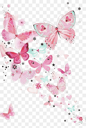 Download Butterfly Pink PNG