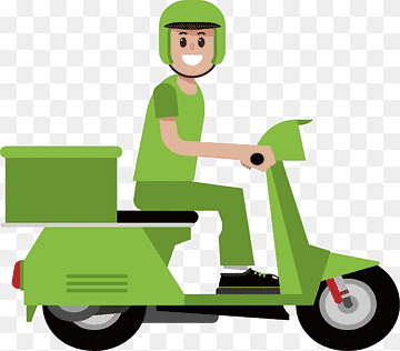 Download Motorcycle Courier PNG