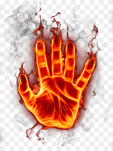 Download Flame Hand PNG