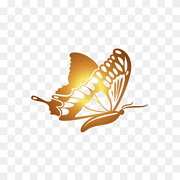 Download Butterfly Golden PNG