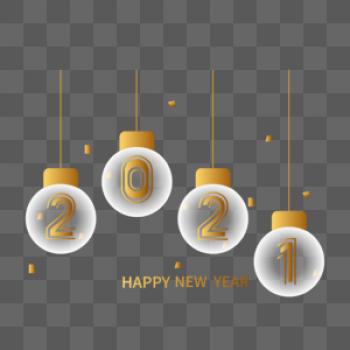 Download 2021 New Year Golden Creative Word