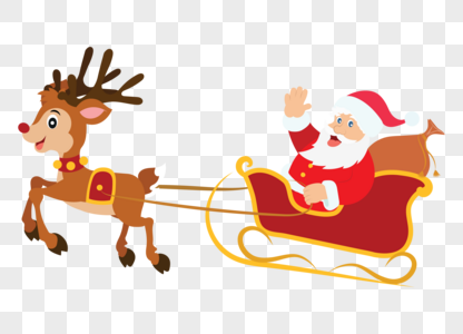 Download Cartoon Santa Claus With Reindeer