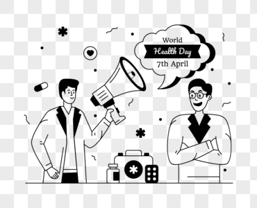 Download Editable Illustration Of Health Day Balloons