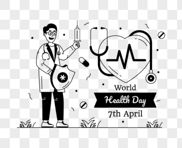 Download Glyph Line Illustration Of Global Health Day