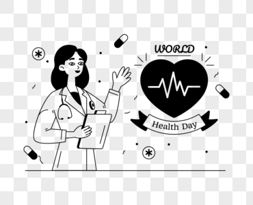 Download Glyph Line Illustration Of World Health Day