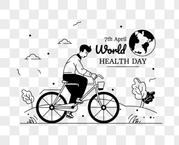 Download Illustration Of Cycling Depicting World Health Day