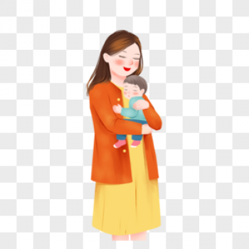 Download Mom Holding A Child
