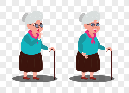Download Old Woman In Two Different Positions