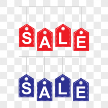 Download Red And Blue Sale Letter Sign Vector