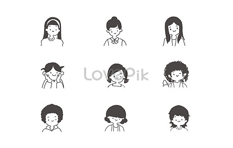 Download Smiling Girl Icon Element