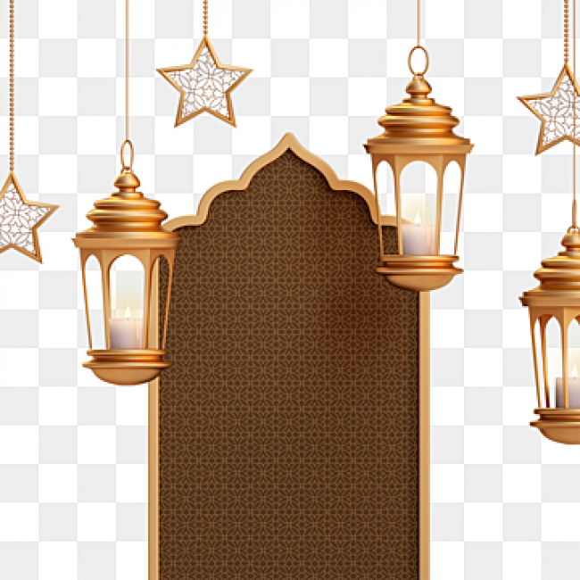 Download Three Dimensional Exquisite Eid Al Fitr Ramadan Lamp