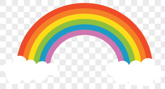 Download White Cloud Cartoon Rainbow