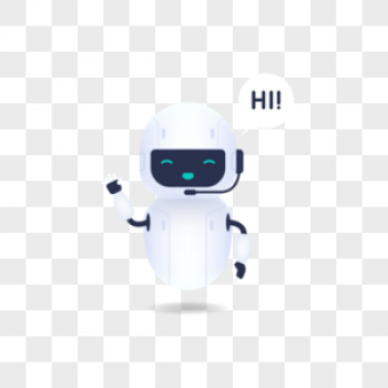 Download White Friendly Robot Say Hi