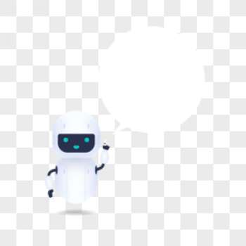 Download White Friendly Robot With Speech Bubble