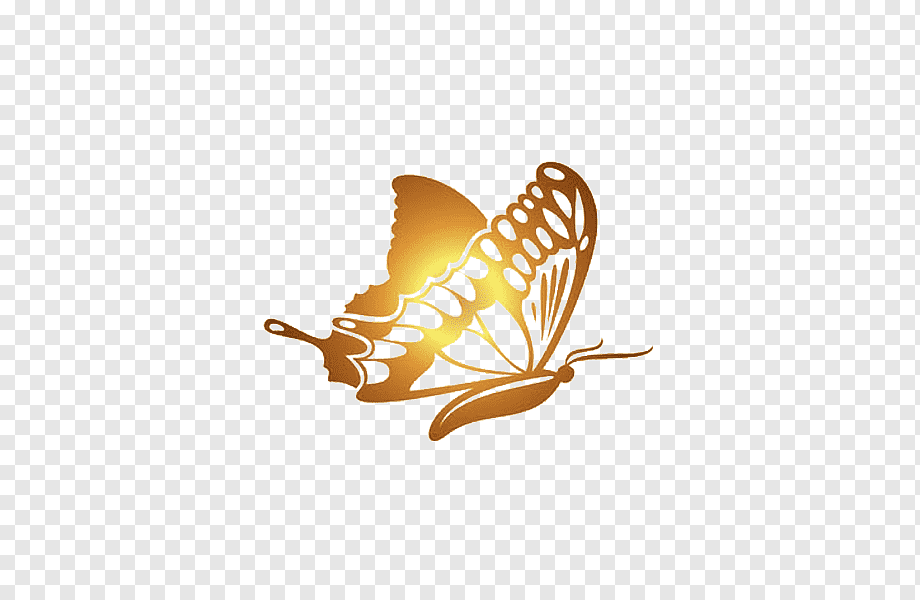 Download free Butterfly Golden PNG